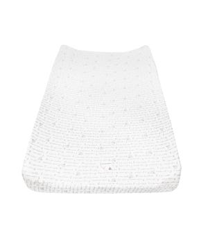 Alphabet Bee Organic Cotton BEESNUG® Fitted Changing Pad Cover