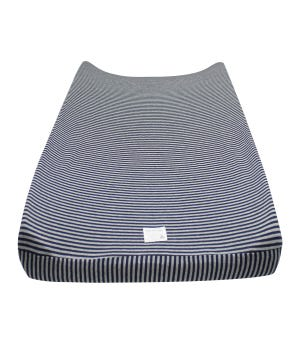 Striped Organic Cotton BEESNUG® Fitted Changing Pad Cover