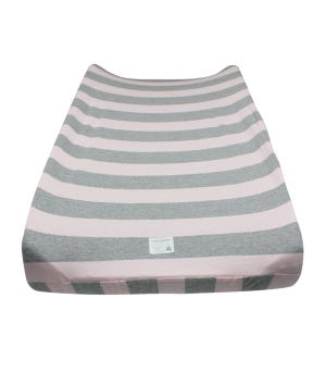 Bold Stripe Organic BEESNUG® Fitted Changing Pad Cover - Blossom - One Size