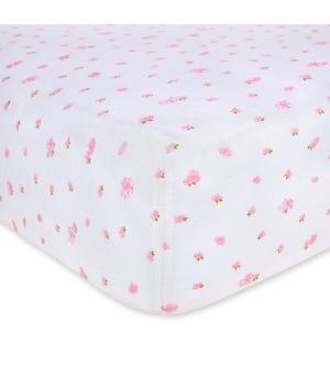 Butterfly Garden Organic BEESNUG® Fitted Crib Sheet - Blossom - Crib