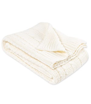 Organic Cable Knit Organic Baby Sweater Blanket