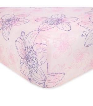 Abstract Blackberry Floral Print Organic Cotton BEESNUG