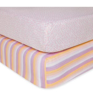 Sunset Stripe & Watercolor Print Organic Cotton BEESNUG
