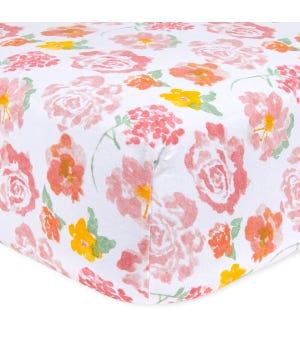 Rosy Spring Organic Cotton BEESNUG® Fitted Crib Sheet