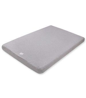 Baby Stripe Organic Cotton BEESNUG? Fitted Mini Crib Sheet Heather Grey