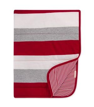 Jumbo Multi Stripe Organic Baby Reversible Blanket