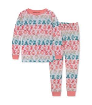 Rainbow Love Organic Big Kid Snug Fit Pajamas