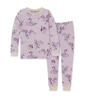 Miss Swan Organic Big Kid Snug Fit Pajamas