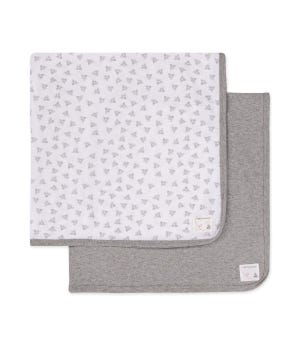 Honey Bee Baby Organic Cotton  Receiving Blankets 2 Pack