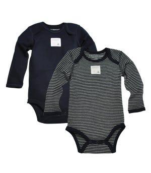 Bee Essentials Set of 2 Long Sleeve Organic Cotton Bodysuits