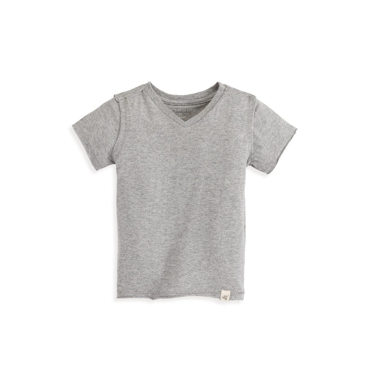 6-9 Months Moon and Back Set of 5 Organic V-Neck Short-Sleeve T-Shirts Grey Multi