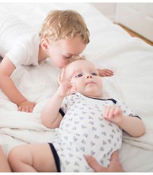 Bee Essentials Organic Short Sleeve Baby Bodysuits Set of 5