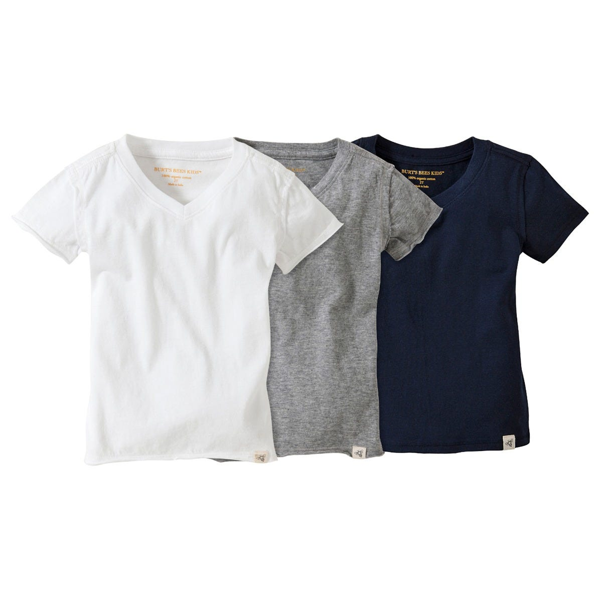 Baby Boys T-Shirt 100/% Organic Cotton Burts Bees Baby Short Sleeve V-Neck and Crewneck Tees