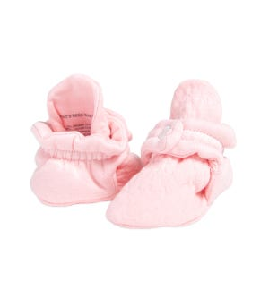 Quilted Bee Organic Baby Booties Blossom 0-3 Months