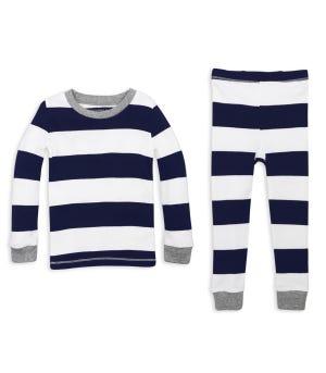 Rugby Stripe Snug Fit Organic Baby Pajamas