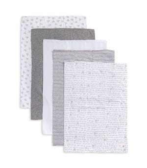 Extra Absorbent Organic Cotton Baby Neutral Burp Cloths 5 Pack