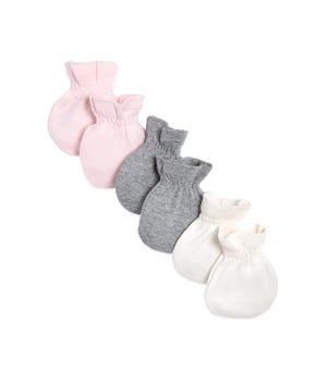 3 Pack Organic Baby Mittens Blossom