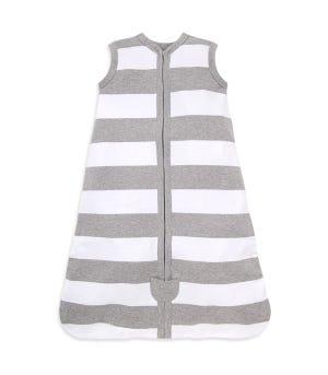 Beekeeper™ Rugby Stripe Organic Baby Wearable Blanket - Heather Grey - Large