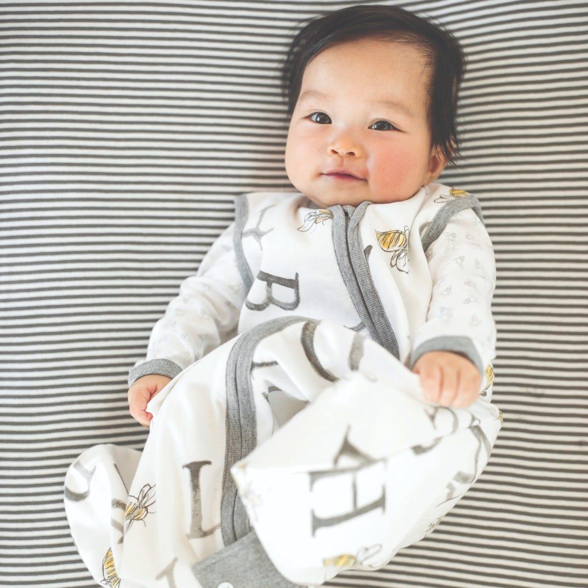 Burts Bees Baby 100/% Organic Cotton Swaddle Transition Sleeping Bag Beekeeper Wearable Blanket