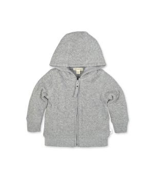 Baby Organic Cotton Bee Matelassé Jacket Heather Grey 0-3 Months