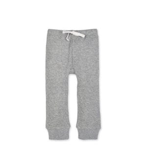Baby Organic Cotton Bee Matelassé Pant Heather Grey - 12 Months