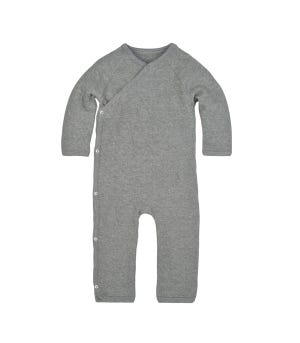 Quilted Bee Organic Baby Wrap Front Jumpsuit