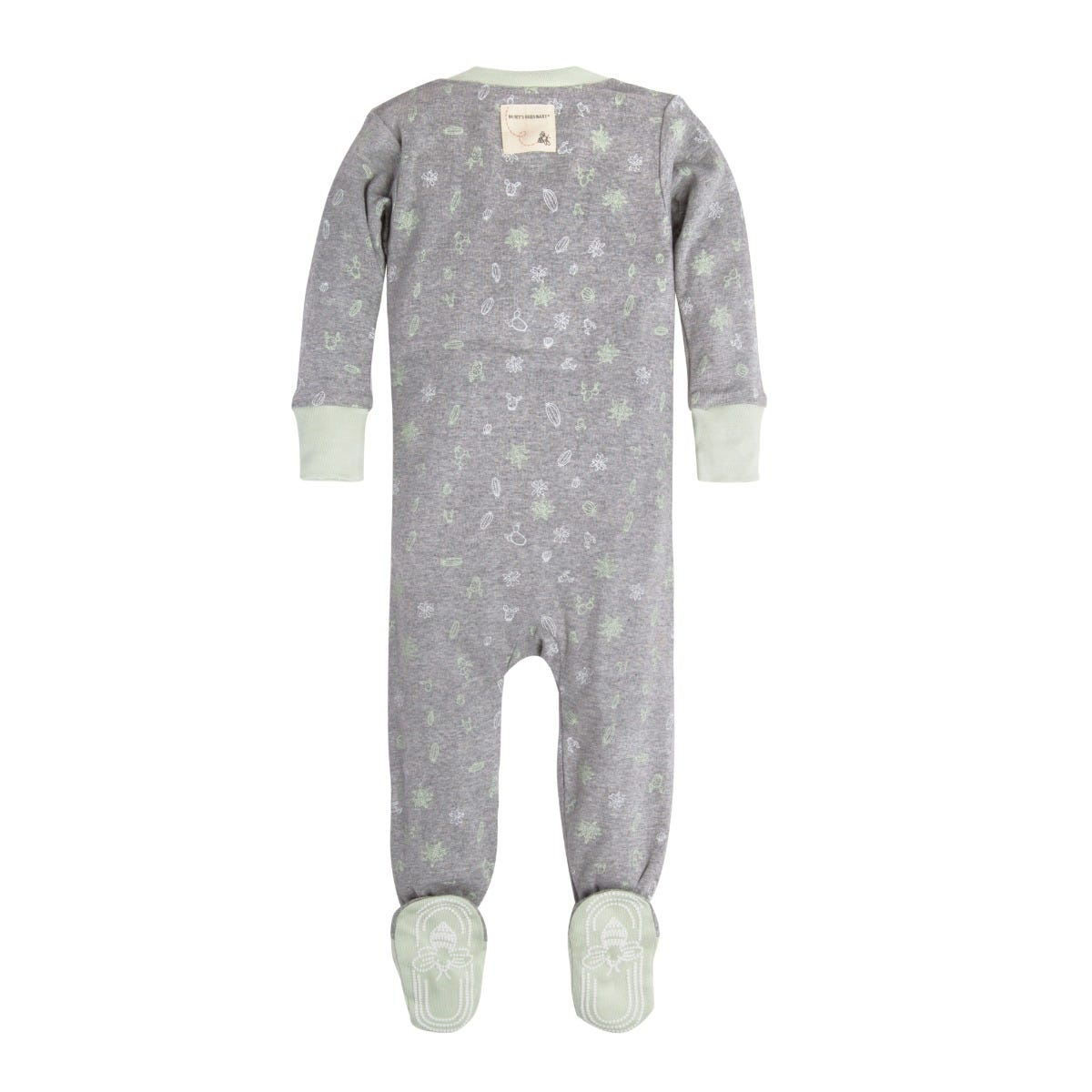 Grey, 0-3m Organic Cotton Baby Clothes Footed Romper Sleeper GOTS Certified