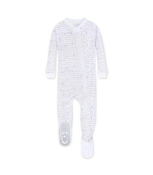 Alphabet Bee Organic Baby Zip Up Footed Pajamas - Heather Grey - 12 Months