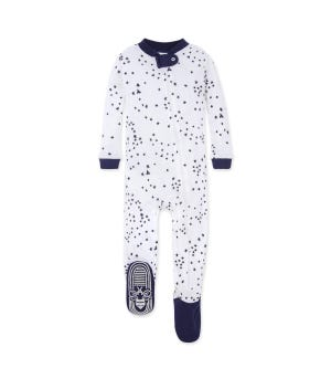 Twinkle Bee Organic Baby Zip Up Footed Pajamas - Midnight - 12 Months