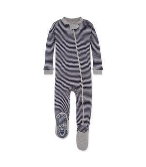 Stripe Organic Baby Sleeper Midnight 12 Months
