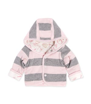 Watercolor A Bee C Reversible Organic Jacket Blossom 12 Months