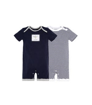 Baby 2 Pack Honey Bee Organic One Piece Rompers Midnight 12 Months