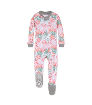 Baby Tossed Succulent Organic Zip Up Footed Pajamas Multi 12 Months