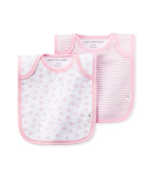 Lap Shoulder Organic Baby Bibs 2 Pack Blossom