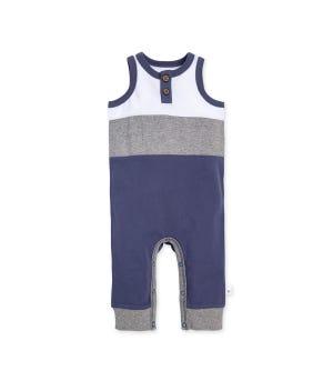Organic Cotton Color blocked Sleeveless Jumpsuit