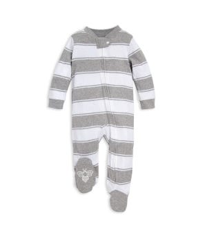 Rugby Stripe Organic Baby Sleep & Play Pajamas