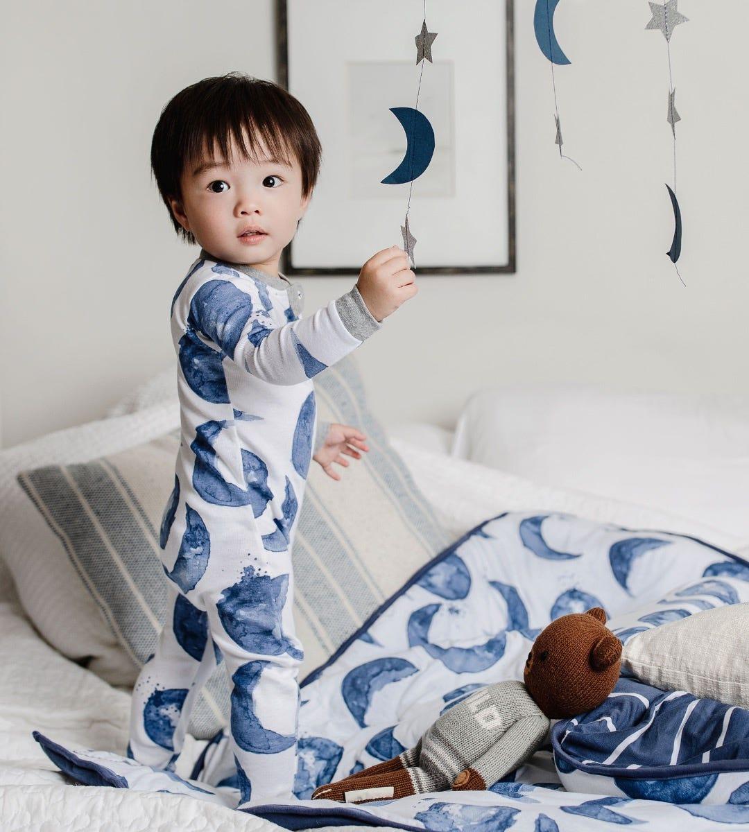 goodnight moon Baby Infant Glow in The Dark Footie Pajama Set