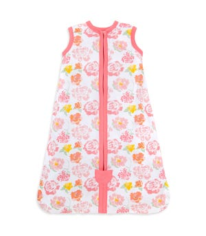 Baby Rosy Spring Floral Organic Cotton Beekeeper Wearable Blanket