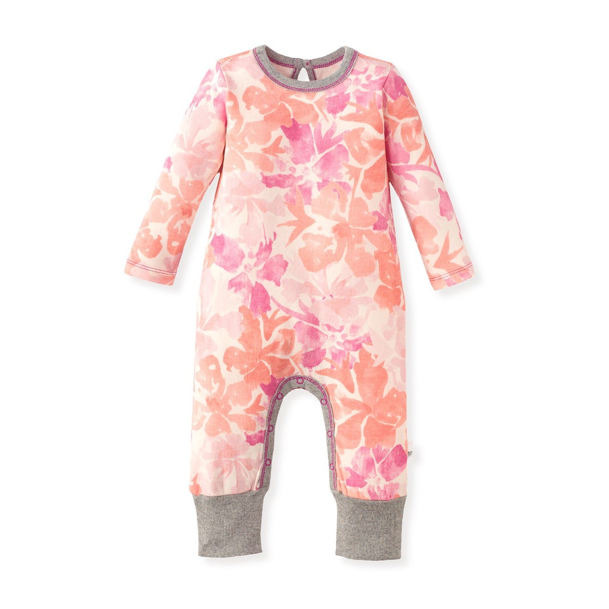 Short Jersey Overalls Watercolour Floral Print