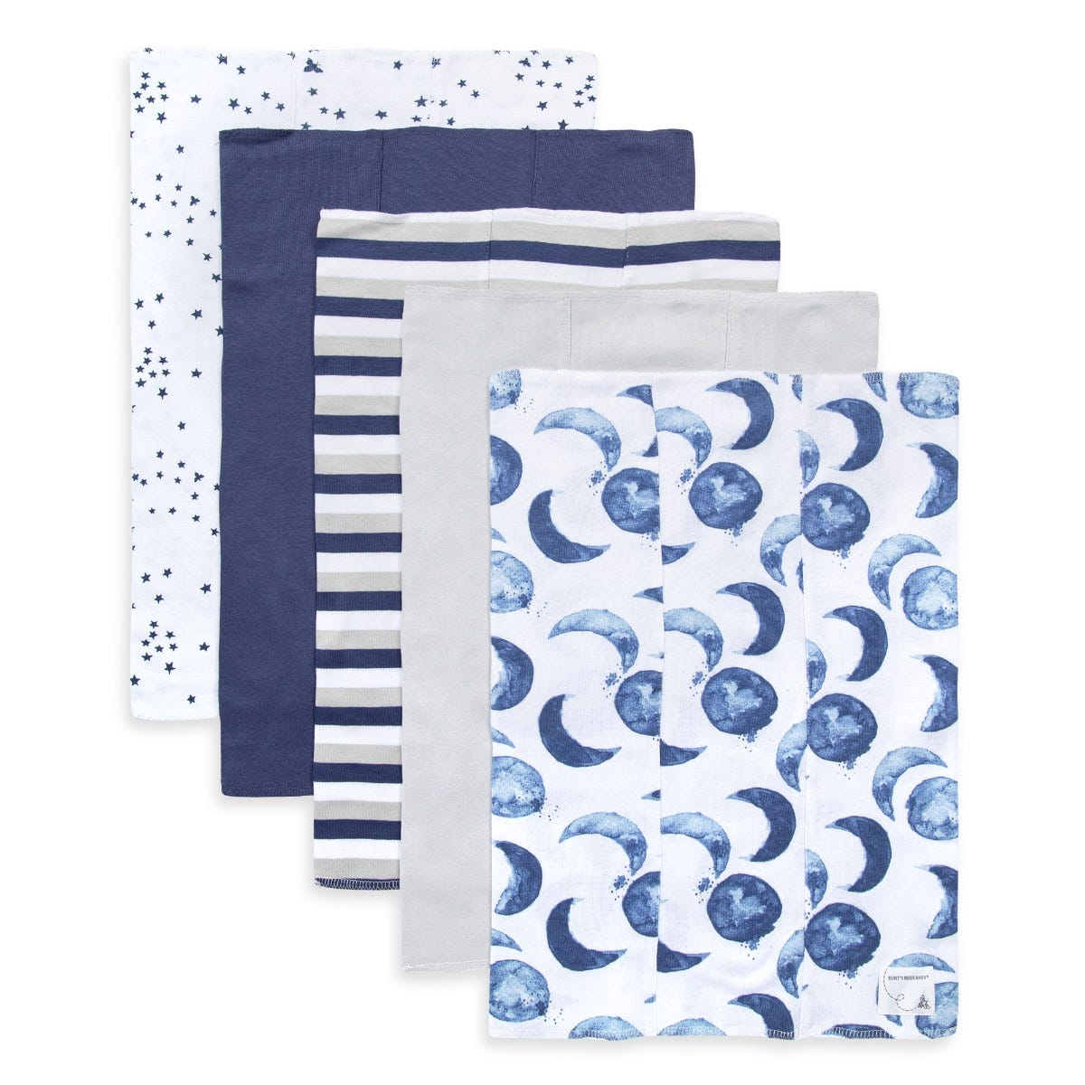 5 Pack Baby Burp Cloths Reusable Baby Towel of Extra Absorbent and Soft Six-ply Cotton Gauze Washcloths 12 x 12