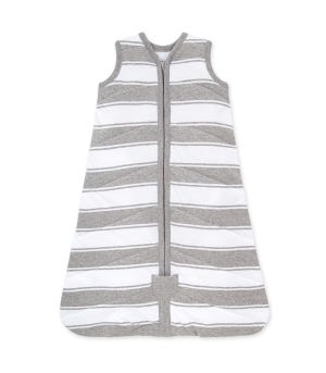 Beekeeper™ Rugby Peace Stripe Quilted Organic Baby Wearable Blanket