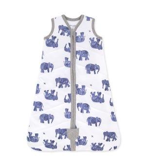 Beekeeper™ Wandering Elephants Quilted Organic Baby Wearable Blanket