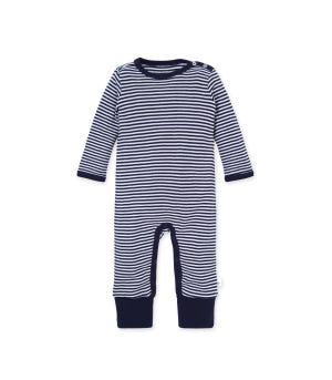 Classic Stripe Organic Baby Convertible Footie Jumpsuit
