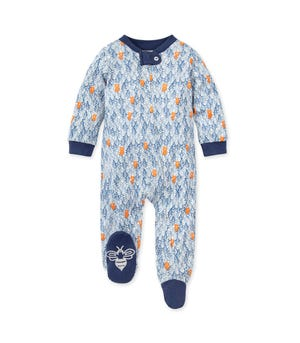 Clustered Bear Organic Baby Loose Fit Footed Pajamas