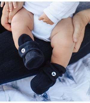 Solid  Adjustable Organic Baby Booties