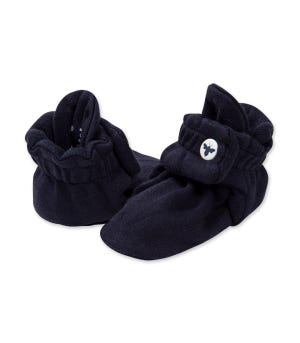 Solid  Adjustable Organic Baby Booties Midnight 0-3 Months
