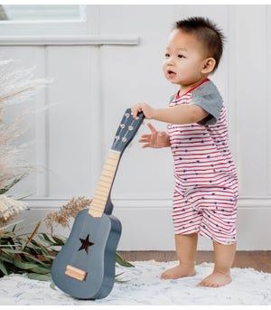 Stars n Stripes Organic Baby Henley Romper