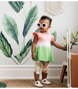 Dip Dye Organic Baby Tunic & Lily Oasis Capri Legging Set