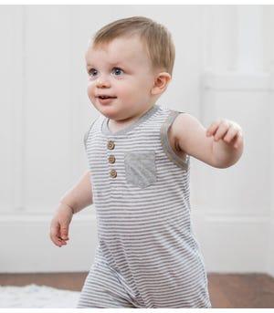 Classic Stripe Organic Baby Romper