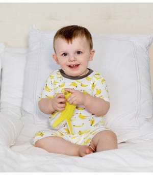 Going Bananas Organic Baby Snug Fit Pajama Short Set